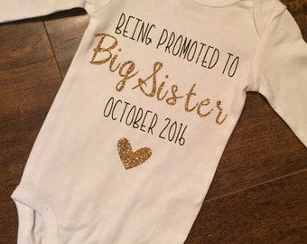 Big Sister Announcement Onesie, Pregnancy Announcement Onesie, Pregnancy Shirt, Big Sister Shirt