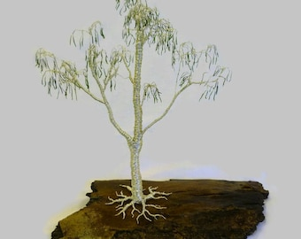 Australian Ghost Gum Tree in Silver Wire