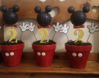 Mickey mouse themed center pieces