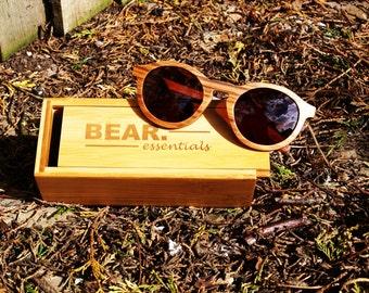 Bear Essentials Hand-crafted Wooden Sunglasses Koala Brown