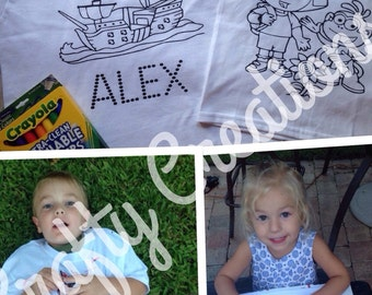 Childrens Coloring Shirts