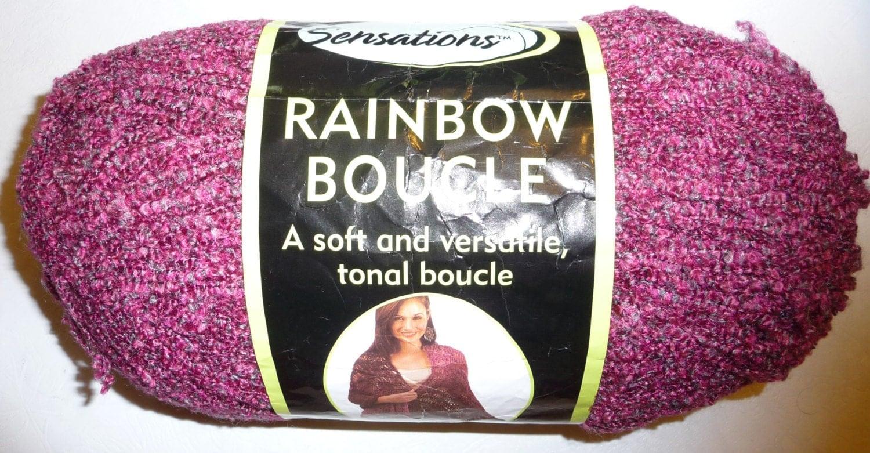 Sensations Rainbow Boucle Yarn Free Crochet Patterns : Jo-Ann Sensations RAINBOW BOUCLE Yarn 11 oz. FUSCHIA soft