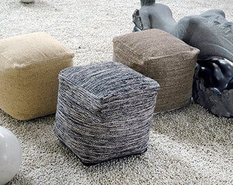square ottoman/poof.PRE-STUFFED floor cushion seating available in many colors