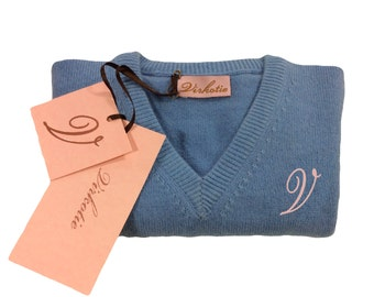 Virkotie BLUE 100% Cashmere Sweater