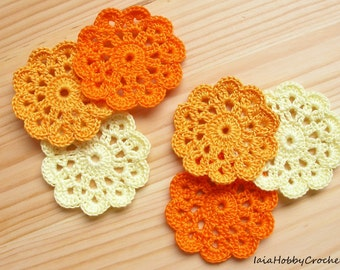 Crochet Mini Doilies Etsy