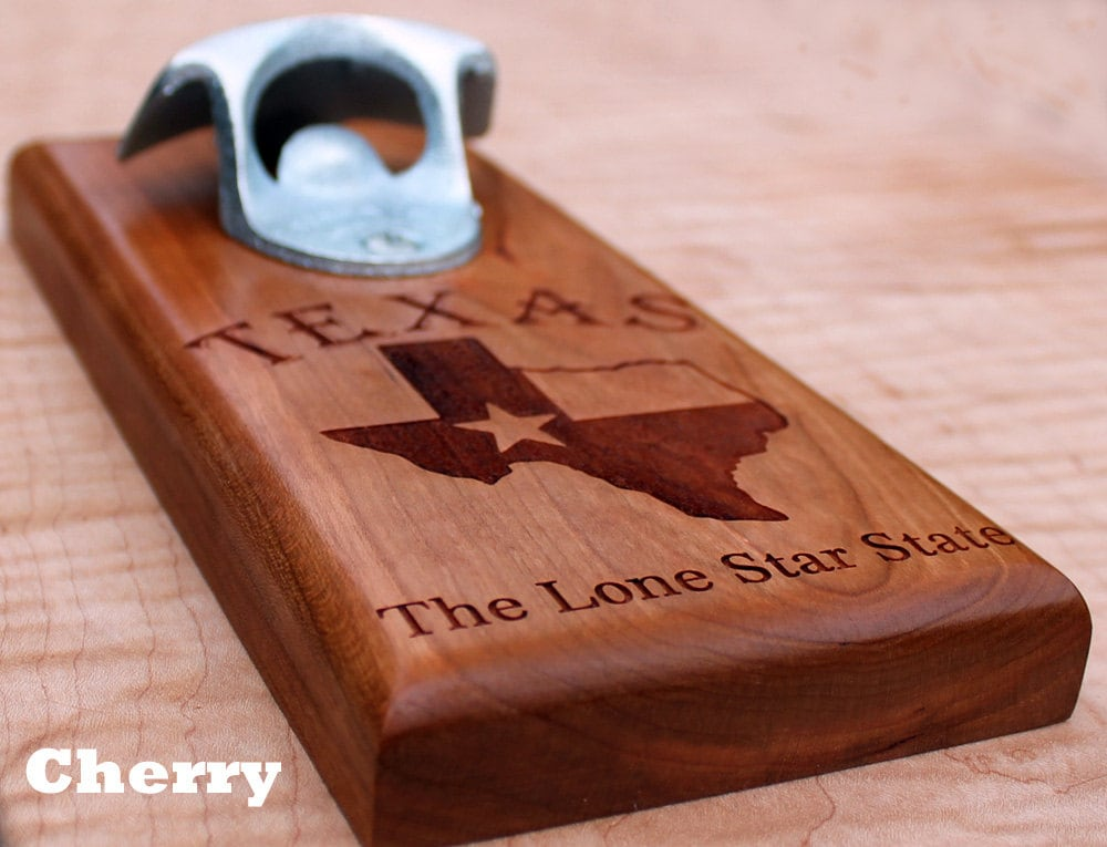 Magnetic or wall mounted bottle opener texas opener - Bottle opener wall mount magnet ...