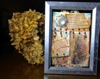 Charlotte Brontë Shadowbox Art, Charlotte Brontë Poetry, Inspirational Art