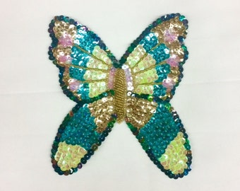 Butterfly Applique Sequin & Beads