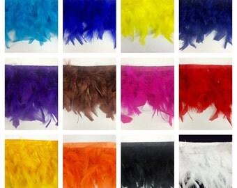 Candele Turkey Fluff Feather Fringe Trim 5.5'' - 6'' Long Selling Per Yard