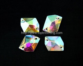 Crystal AB  GALATIC Shape Resin stone Sew on or glue on Gems Selling per pack