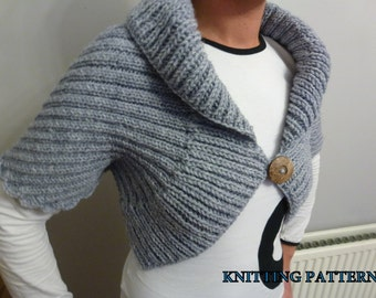 Shrug, Bolero, Wrap - Knitting Pattern