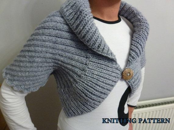 Shrug Bolero Wrap Knitting Pattern
