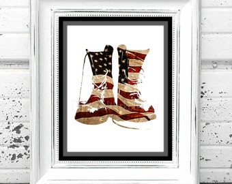 Military Print,#American,#Soldier,#BootsofPride,#Digital,#Downloadable,#PrintableArt,#UnitedStatesofAmerica,#Flag,#Lawenforcement,#July4th
