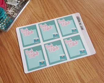 Book Update Note Stickers