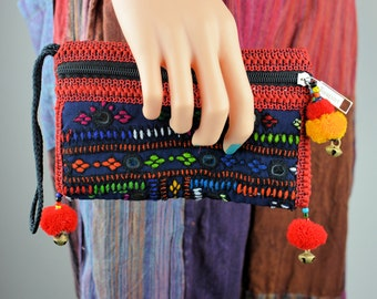 Dark blue and red clutch bag,Sindhi embroidery bag,Handmade bags,Clutches,Evening bags,Banjara bags,Vintage Fabric bags,Pouches,Handbags