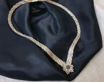 835 silver necklace with 7 sapphires silver SK490