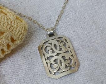 Old 900 pendant silver Art Nouveau SK545