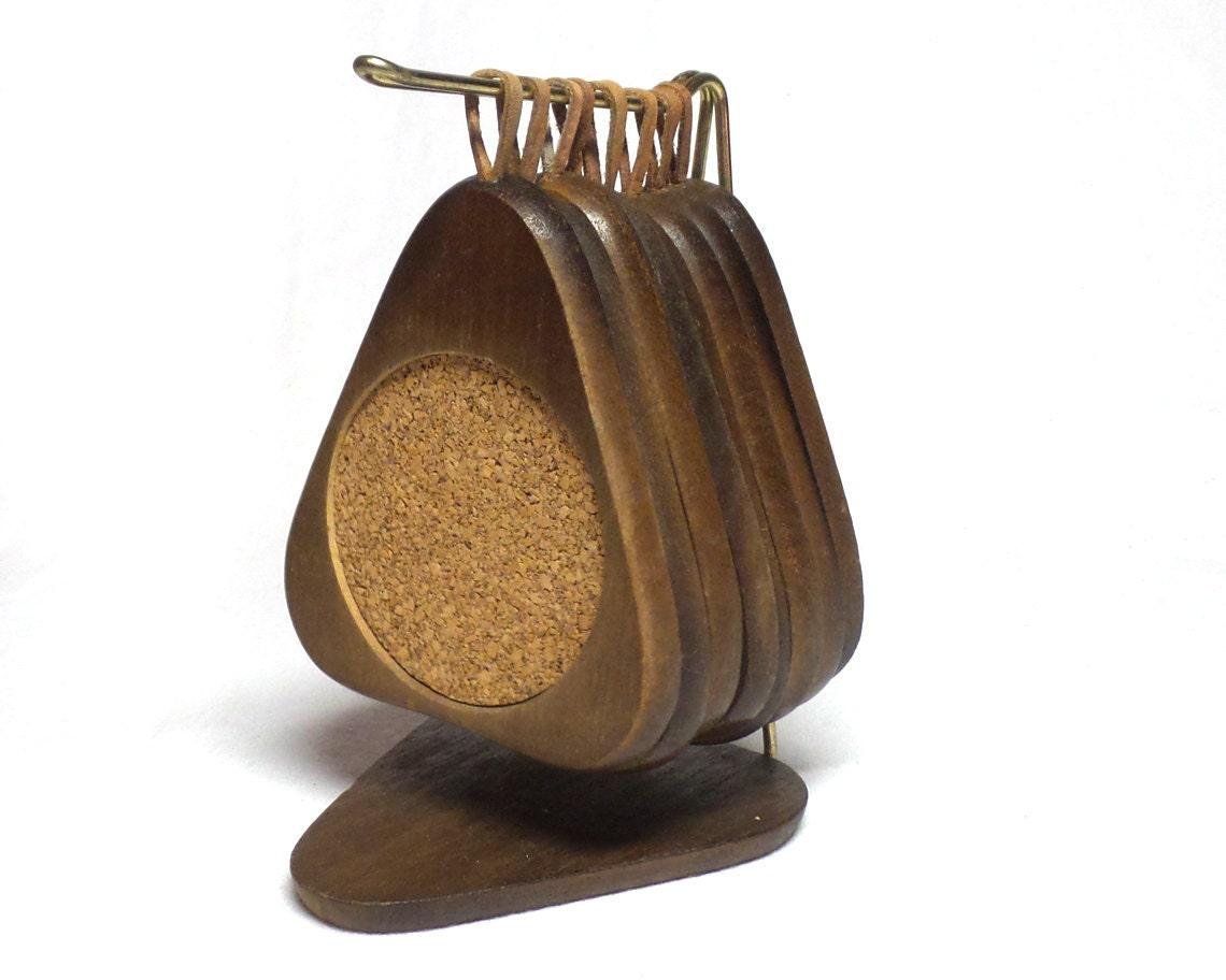 Vintage Danish Modern Wooden Coasters