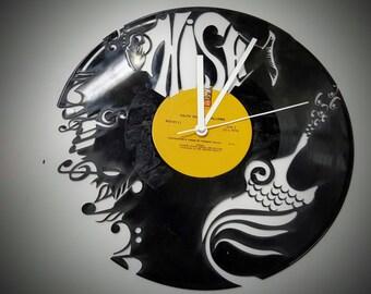 Phish, the band Phish, Phish Clock, Phish Vinyl Record Clock, Vermont Phish Clock,  Trey Anastasio, Custom Clocks, Wall Clock