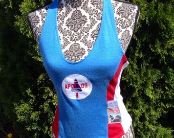 Retro Womens Apollos Mission Athletic Halter Top Size Large