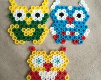 Perler Bead Superhero Owls