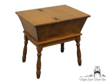 HEYWOOD WAKEFIELD Old Colony Maple Dough Box End Table Cinnamon