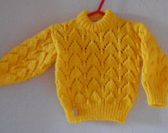 R4EDUCED, Baby Sweater, Hand Knit Sweater, Hand Knitted Baby,  Baby Jumper, Baby Pullover, Round Neck Sweater, Baby Jumper, Baby Clothing