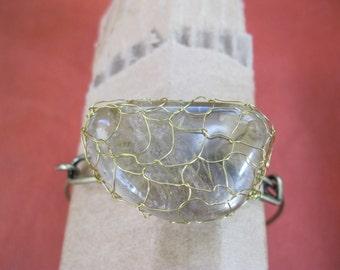 Rutilated Quartz Knitted Wire Bracelet