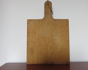 old wooden cutting board solid French art deco 30's 40's bread, roasted old vintage french solid wood cutting board
