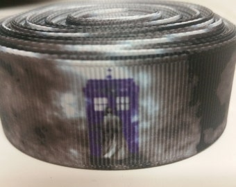 Dr Who 1 inch Ribbon by the yard