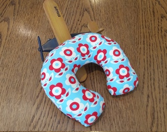 Children's neck pillow, travel neck pillow, toddler neck pillow, baby neck pillow, Flowery Neck Pillow,