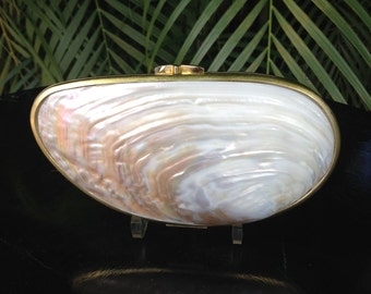 Vintage MotherofPearl Nautilus Shell Clutch