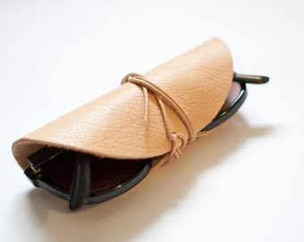 Natural leather glasses wrap   sunglasses case