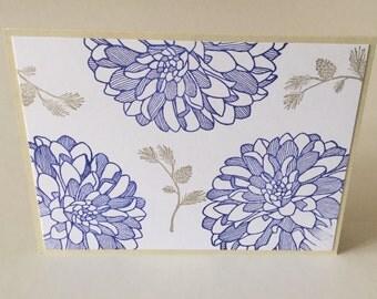 Blank handmade note card set