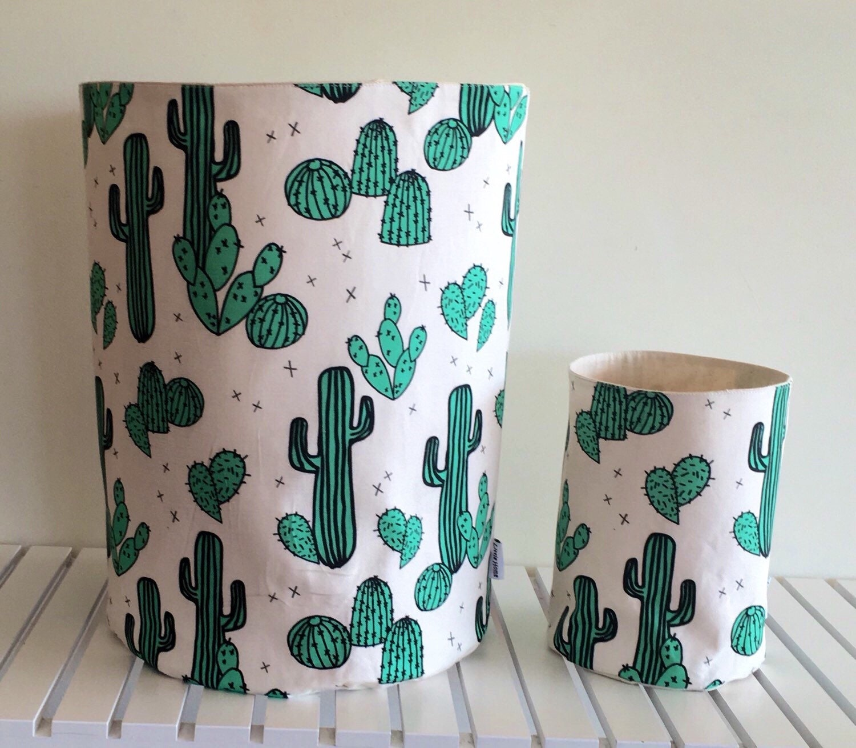 Cactus tasje eco canvas tasje plant etui door LittleHomeHandmade