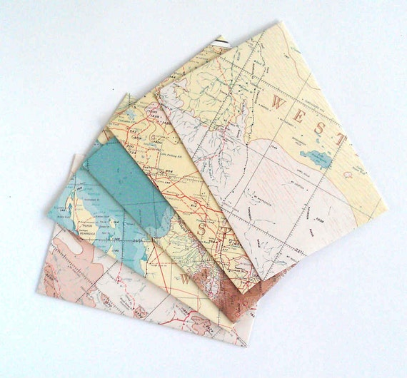 Snail Mail Map Envelopes Mail Art Letter Writing Paper
