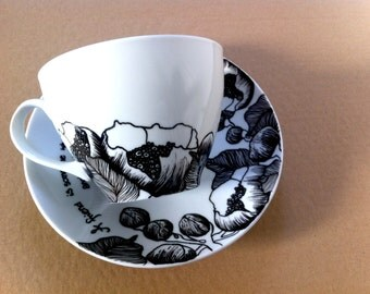 Hand painted porcelaine
