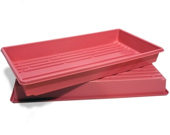 1020 Pink Heavy Duty Growing Trays, for wheatgrass, microgreens and more