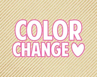 Custom | Color Change | per sheet