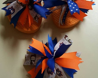 Flip Flops, Hello Kitty, Ribbon Flip Flops, Spiked Puff Ribbon Bow, Auburn, War Eagle