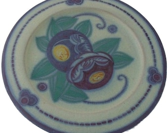 Early Poole Pottery Plate By Truda Adams And Anne Hatchard - 1920's Art Deco