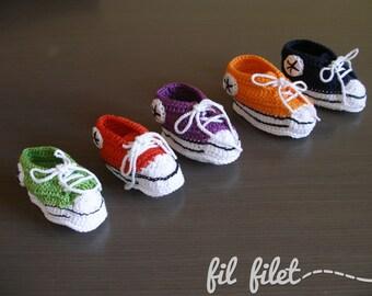 Crochet Sport baby boots