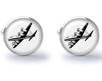 Airplane Cufflinks (Pair) Lifetime Guarantee