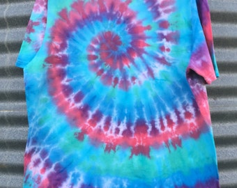 Men's Short Sleeved Tie Dyed T-shirt - Size 2XL