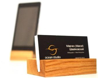 Wood Business Card Holder | Office Accessories | Office Supplies | Boss Gift
