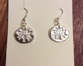 Tree of life - Handmade precious metal clay silver earrings