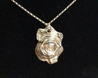 Silver abstract  pendant necklace