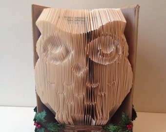 Owl Folded Book Art - Perfect Gift