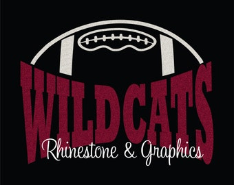 Wildcats Football Design Pattern Graphic Design Instant Download EPS SVG DXF  Cutting Files Cameo