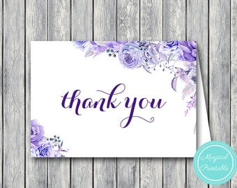 Wedding Thank you cards, Foldable Thank you notes, Wedding Favor Cards, Shower Favors, Bridal Shower Thank you cards, Favors wd94 WI30